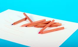 Many Pencils Stock Photo