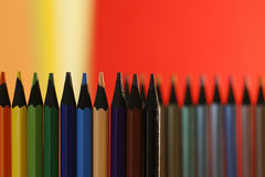 Many pencils. A part of  pencils with a simple  colorful background Royalty Free Stock Image