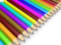 Many pencils as diversity concept Royalty Free Stock Image