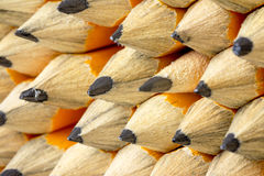 Many pencils close up sharpened and ready for use Stock Photo