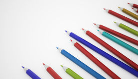 Many pencils colored Stock Images