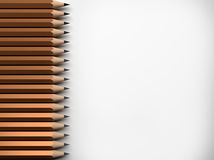 Many pencils , 3D rendering Royalty Free Stock Photo