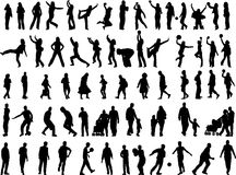 Many people in action. Vector clipart collection Stock Photography