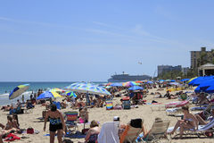 Many People on the Beach Stock Photo