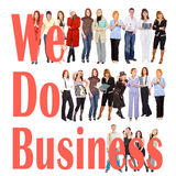 Many people doing some business Stock Photos