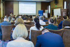 Many People at the Law Conference Listening to The Host Stock Photography