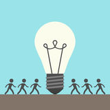 Many people and lightbulb Stock Photography