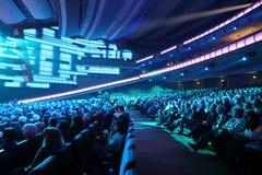 Many people listen anniversary concert of Edita Piecha Stock Photo