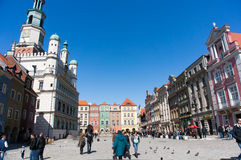 Crowded city center Royalty Free Stock Images