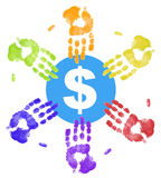 Many people needing money Royalty Free Stock Photos