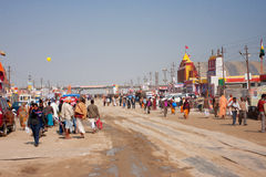 Many people outdoor on festival in of India Stock Photography
