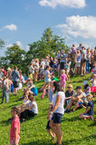 Many people at a park Royalty Free Stock Photos