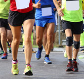 Many people run fast during sports race Royalty Free Stock Photography
