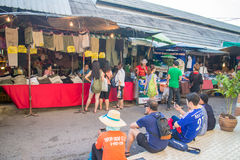 Many people shopping at chatuchak market Stock Image