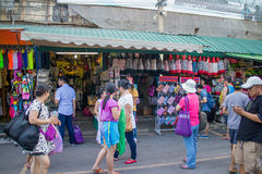 Many people shopping at chatuchak market Stock Images