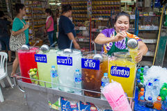 Many people shopping at chatuchak market Royalty Free Stock Images