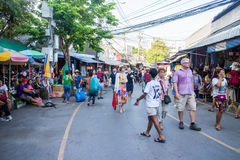 Many people shopping at chatuchak market Stock Photos