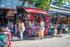 Many people shopping at chatuchak market Royalty Free Stock Image