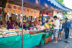 Many people shopping at chatuchak market Royalty Free Stock Photography