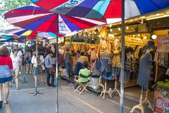 Many people shopping at chatuchak market Stock Photography