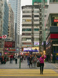 Many people shopping on Tsim Sha Tsui street Royalty Free Stock Image