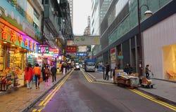 Many people shopping on Tsim Sha Tsui street Royalty Free Stock Photos