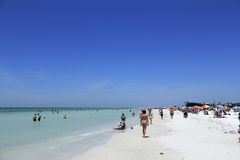 Many People at Siesta Beach Stock Images