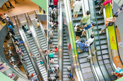 So many people use escalator in department store Royalty Free Stock Photography
