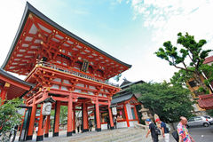 Many people visit to the Ikuta shrine, the famous  Royalty Free Stock Photo