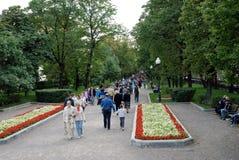 Many people walk on Gogol boulevard. Stock Image