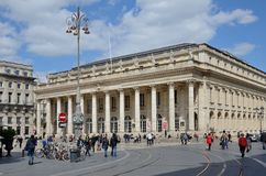 Place de la Comedie in the French city Bordeaux Stock Images