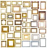 Many Picture Frames. Isolated Over White Royalty Free Stock Photos