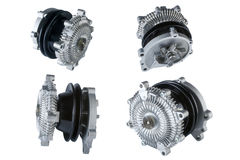 Many pictures of engine Cooling Fan Clutch Royalty Free Stock Image
