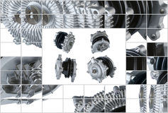 Many pictures of engine Cooling Fan Clutch Royalty Free Stock Photo