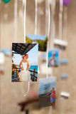 Many pictures of memories on the ribbon Royalty Free Stock Photography