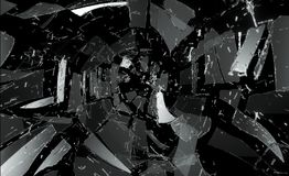 Many pieces of broken and Shattered glass. Large resolution royalty free stock photography