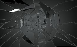 Many pieces of broken or Shattered glass. Large resolution stock photos