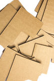 Many pieces of cardboard on white background Stock Photos