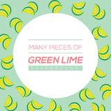 Many Pieces Of Green Lime Stock Image