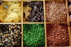 Many pieces and many kind of beans, wallpaper, pat Royalty Free Stock Photos