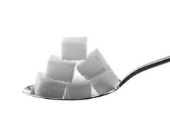 Many pieces of sugar for a sweet Stock Photos