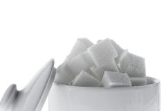 Many pieces of sugar for a sweet Royalty Free Stock Image