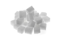Many pieces of sugar for a sweet Royalty Free Stock Photo