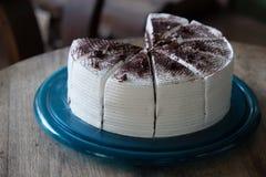 Many pieces of white chocolate cake Stock Image