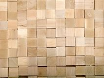 Many pieces of wood are likely to waste from the main product Royalty Free Stock Image