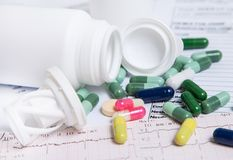 Many pills for effective treatment Royalty Free Stock Photos