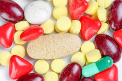 Many pills Royalty Free Stock Photography