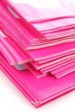 Many pink magazines Stock Photo