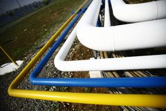 Many pipes Stock Photography