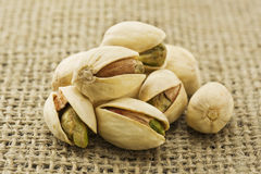 Many pistachios Royalty Free Stock Images